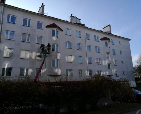 Isokor - čistenie a nanoimpregnácia fasády bytového domu