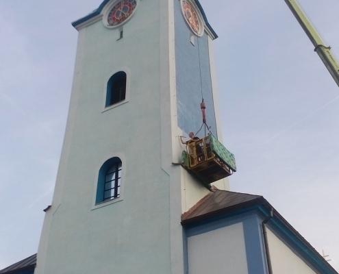 Isokor - Čistenie, náter a impregnácia kostola v Oščadnici